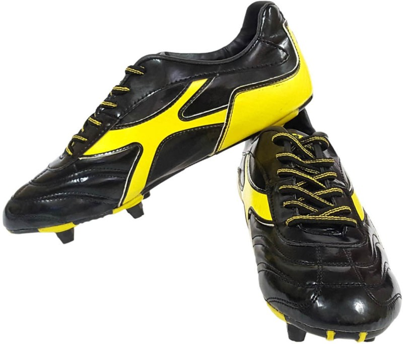 Vector X Screw Football Shoes(Black, Yellow)