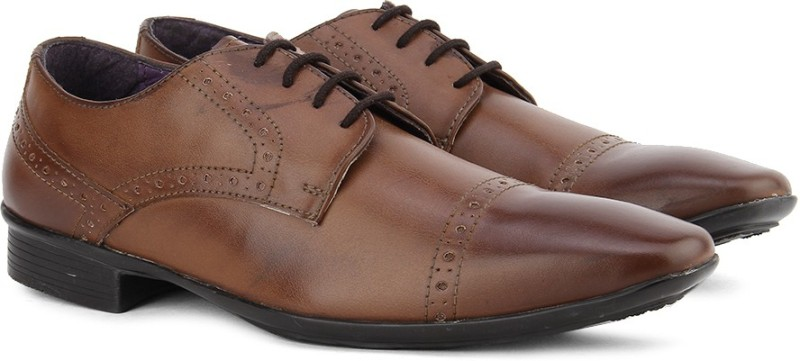 Knotty Derby Brogue Derby Lace up For Men(Tan)