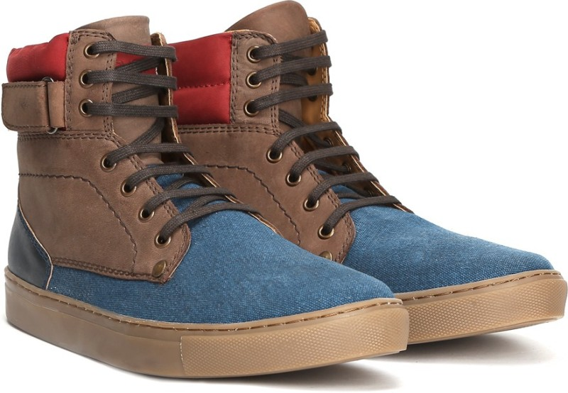 Ruosh Genuine Leather Boots For Men(Blue)