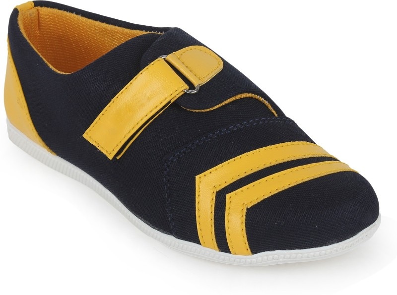 Scantia Loafers For Women(Black, Yellow)