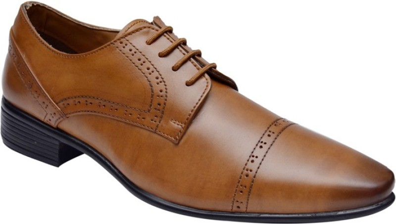 Hirels Tan Elite Office Wear Lace Up Shoe(Tan)