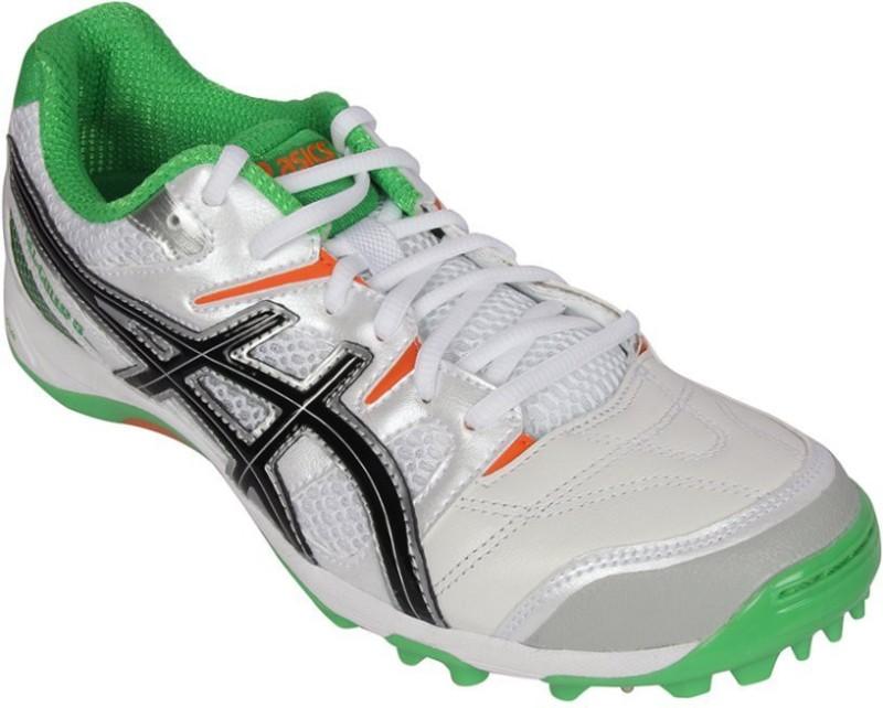 Asics Gel-Gully-5 Men Cricket Shoes For Men(White, Black, Green)