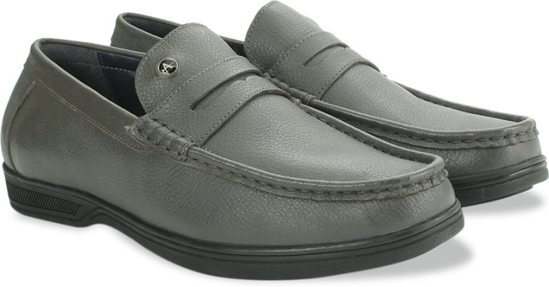 Arrow Formal Moc Loafers For Men(Grey)
