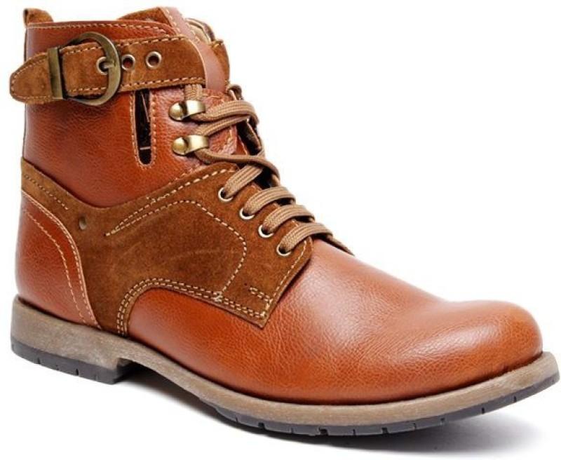 Bacca Bucci Tan Boots For Men(Tan)