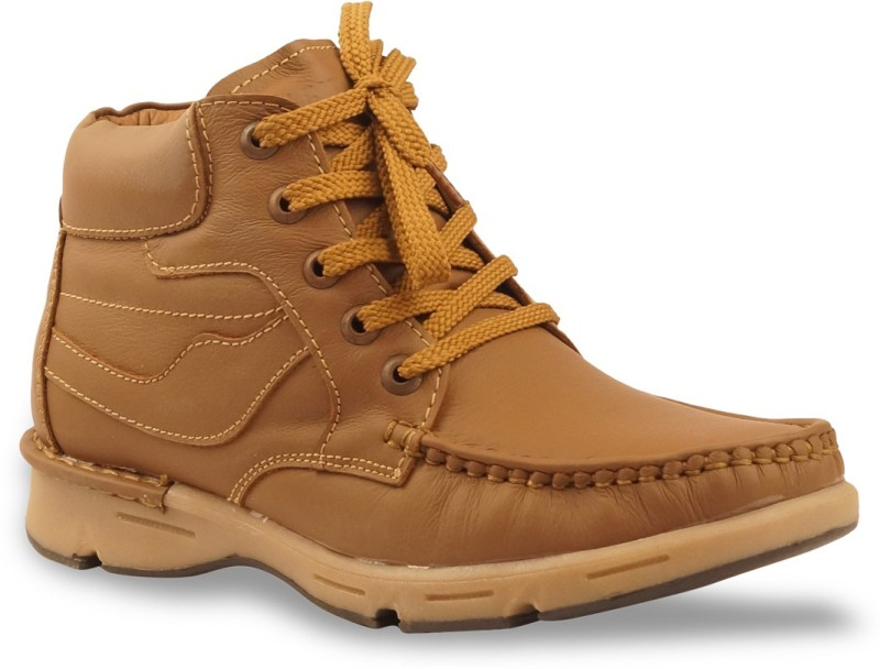 Bacca Bucci Men Tawyer Evo Leather Casual Boots(Tan)