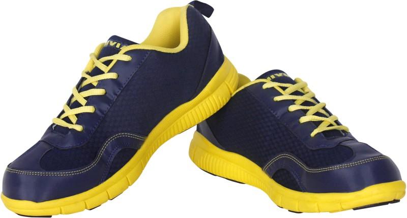 Nivia Escort Women's Running Shoes For Women(38, Navy, Yellow) image