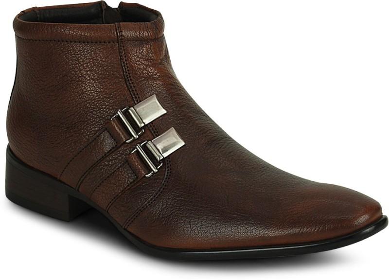 Kielz Kielz Tan Zipper Stylish Boots Boots(Tan)