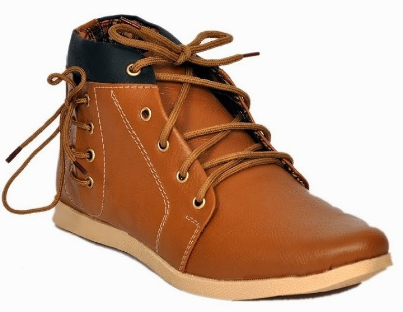 Footista Side Lace Boots(Tan)