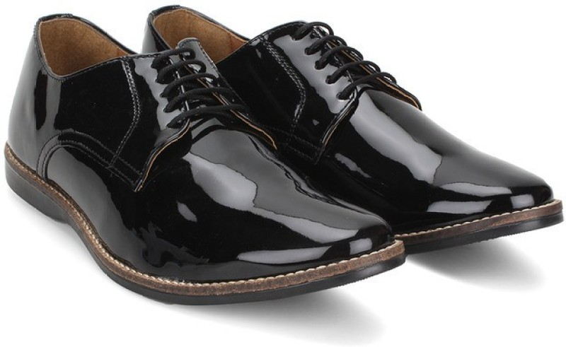Knotty Derby Ollivander Classic Derby Corporate Casuals For Men(Black)