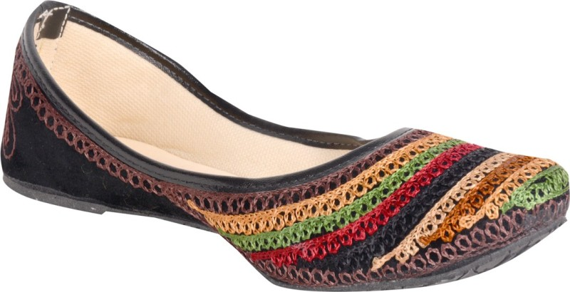 Panahi Synthetic Women's Casual cum Party wear Belly Shoes Ethnic Footwear Mojari Jutis For Women(5, Multicolor) image