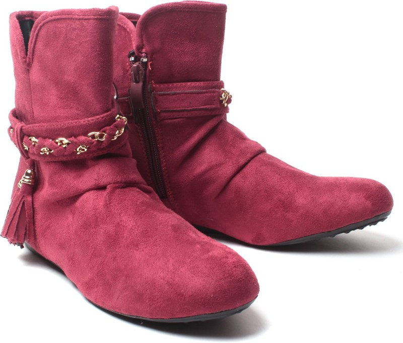 Nell Boots For Women(Red)