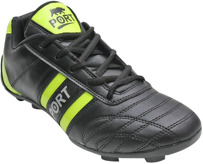 Port shoter-345 Football Shoes(Black)