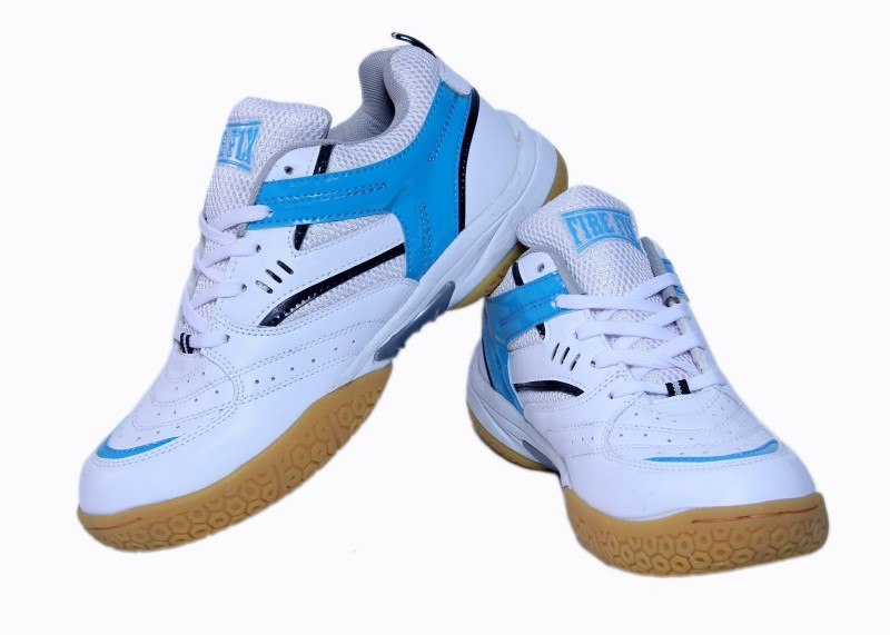 Firefly Excel White & Blue Badminton Shoes For Women(White)