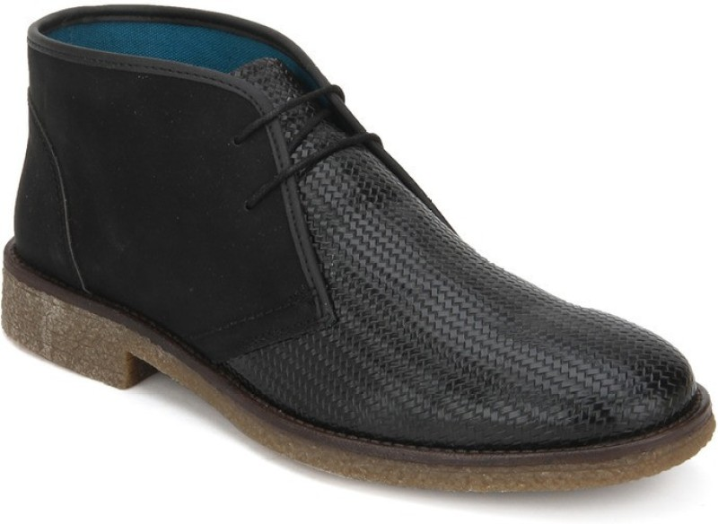 Knotty Derby Jordan Desert Boots For Men(Black)