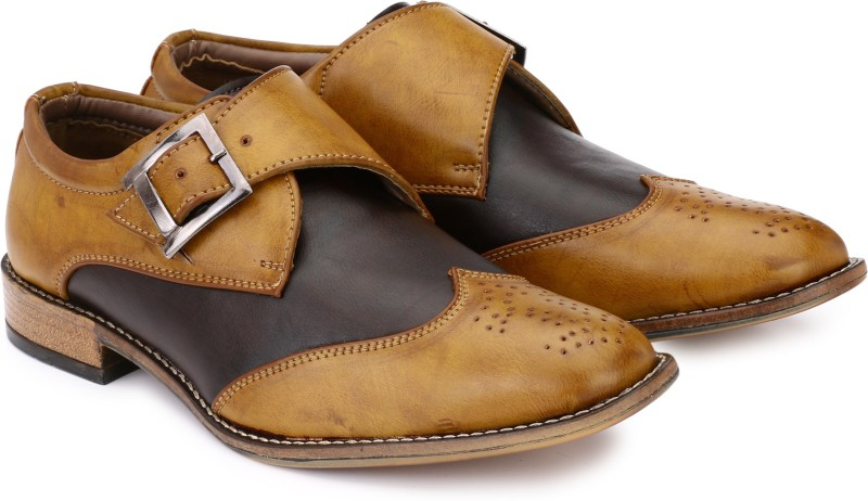 Prolific Monk Strap For Men(Tan)