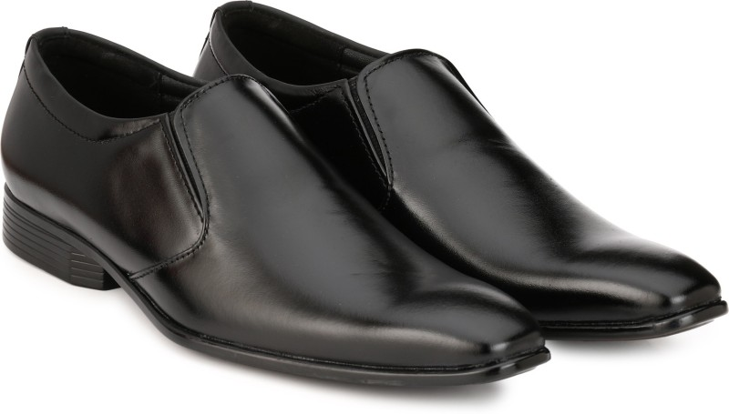 Knoos Corporate Formals Slip On For Men(Black)