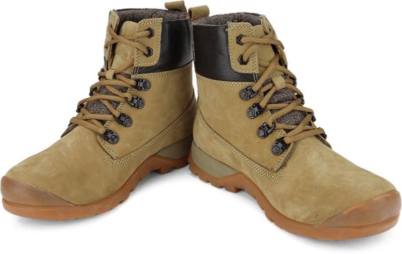 Woodland Boots For Men(Beige, Black)