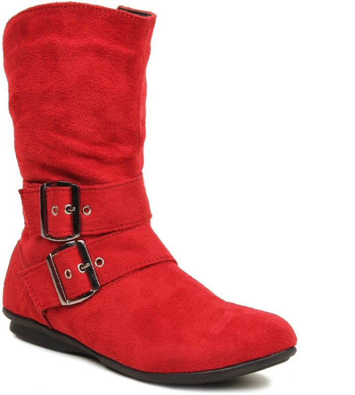 Bruno Manetti Aiimaa Women's Boots For Women(36, Red) image
