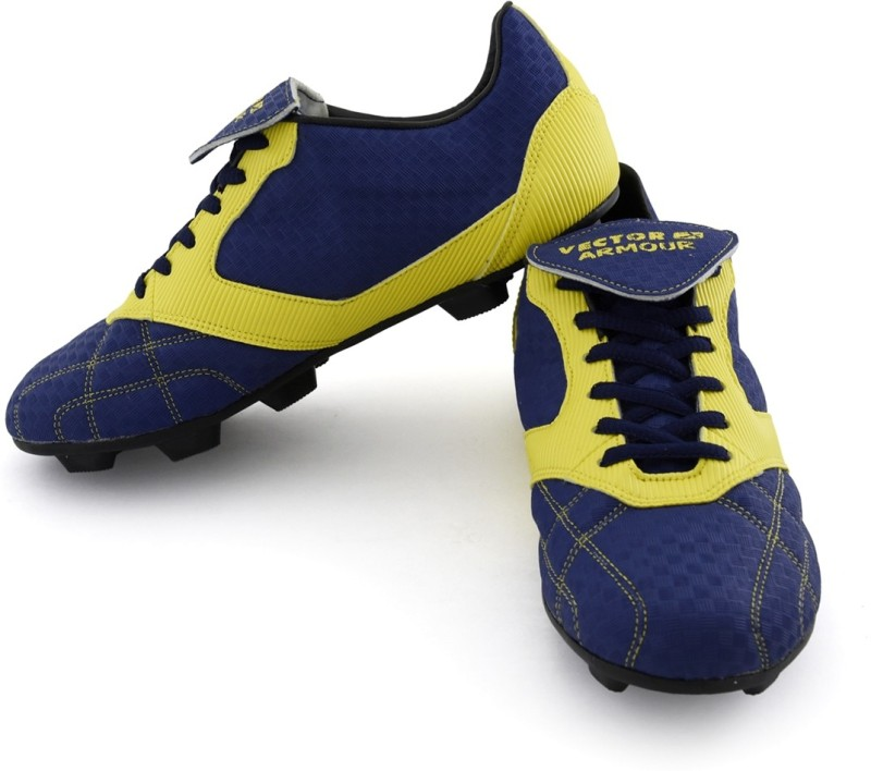 Vector X Armour Women's Football Shoes For Women(3, Blue, Yellow) image