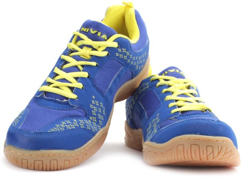 Nivia Scott Badminton Shoes For Men(Blue)
