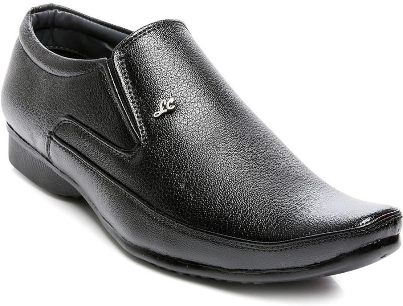 TEN Formal Shoes Slip On For Men(Black)