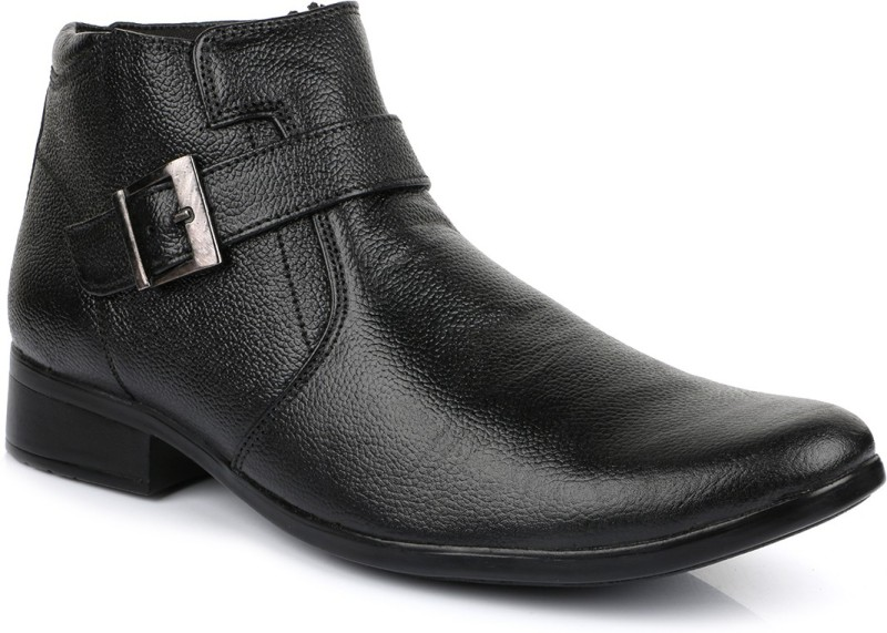 Escaro Leather Boots(Black)