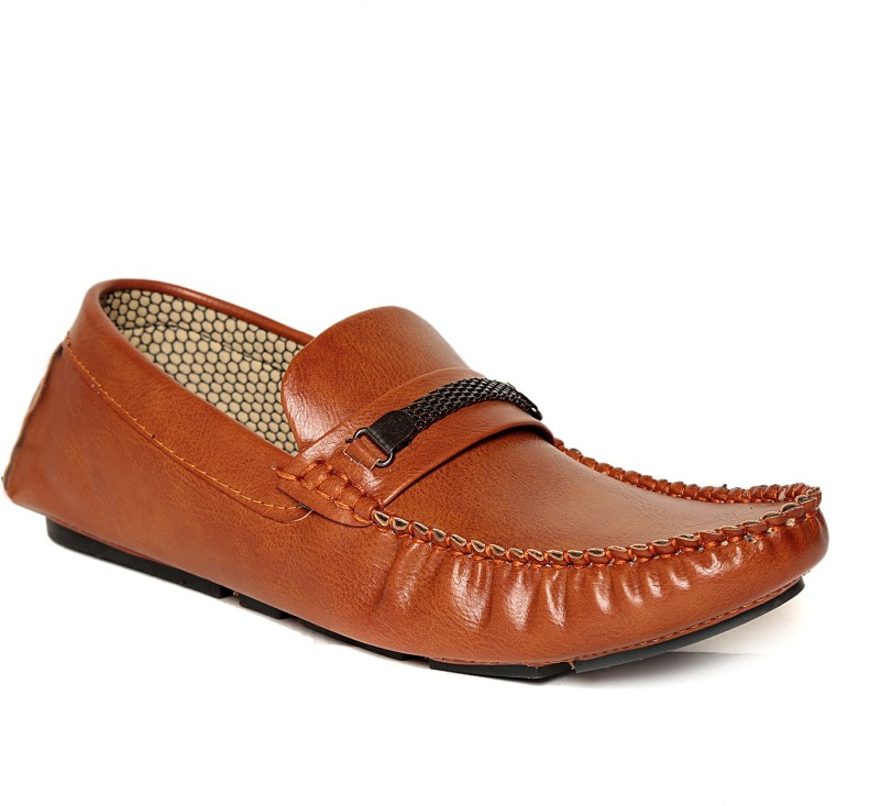 TEN Loafers Loafers For Men(Brown)