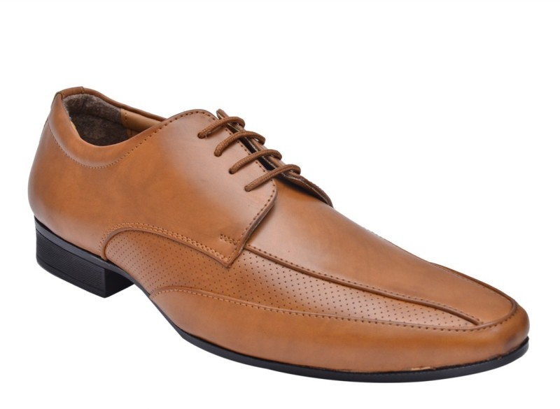 Hirels Stylish Derby Lace Up Shoes For Men(Tan)