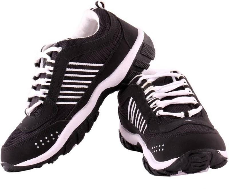 Chimps Bindas Men's Running Shoes For Men(9, Black, White) image