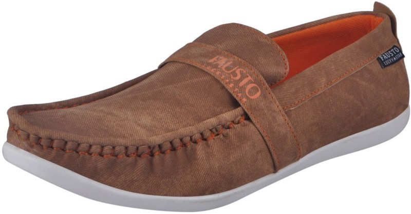 FAUSTO Tan Mens Casual Loafers For Men(Tan)