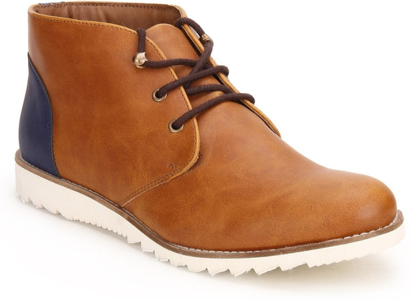 Knotty Derby Colin Chukka Boots For Men(Tan, Blue)