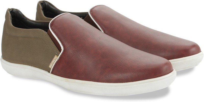 U.S. Polo Assn Slip On Loafers For Men(Brown, Maroon)