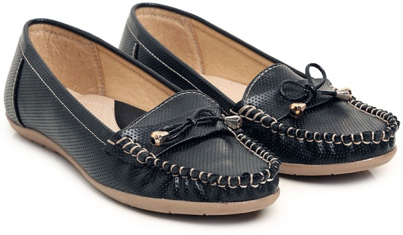 Bare Soles Loafers For Women(Black)