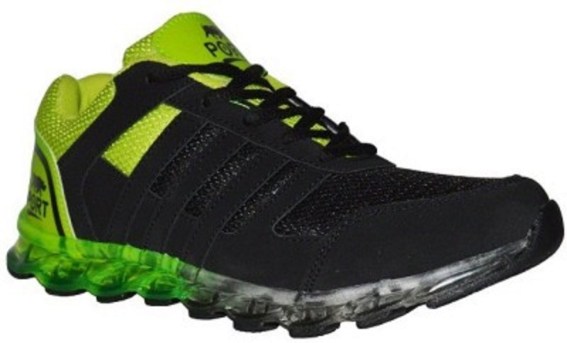 Port Green Atom Sports Running Shoes(Green)