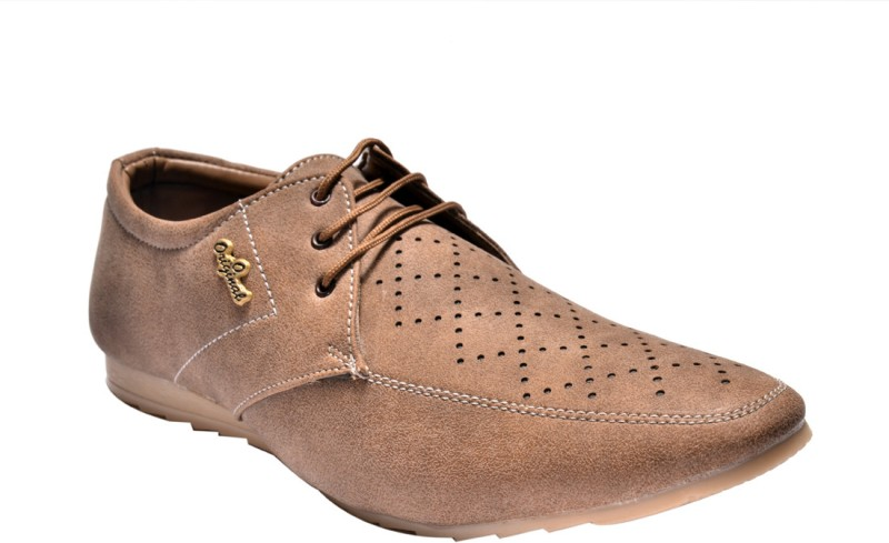 Prolific Music Crackle Casuals Shoes For Men(Tan)