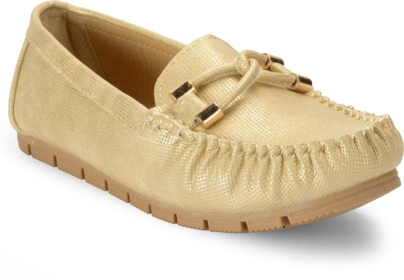 Flat n Heels Loafers(Gold)
