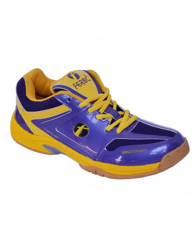 Feroc Flex FCI Purple Badminton Shoes For Men(Purple)