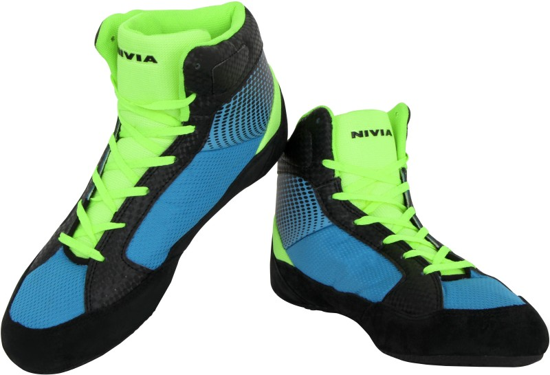 Nivia New Wrestling Shoes For Men(Blue, Black)