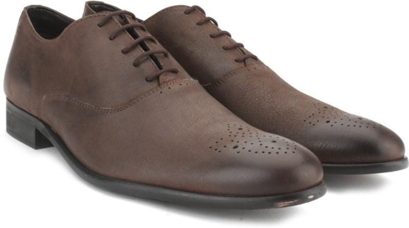 Arrow Men Genuine Leather Lace Up Shoes For Men(Brown)