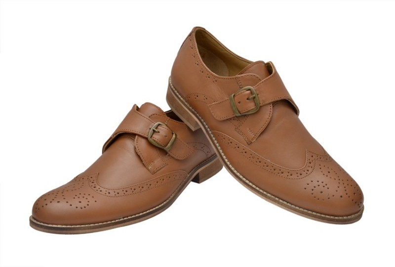 Hirels Tan Monk Strap Shoes(Tan)
