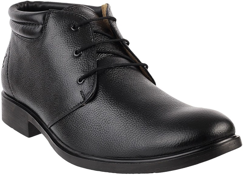 Mochi AWESOME Lace Up Shoes For Men(Black)