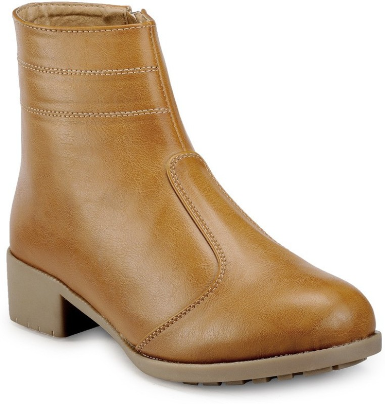 Marc Loire Loire Womens Tan Zipper Boots Boots For Women(Tan)