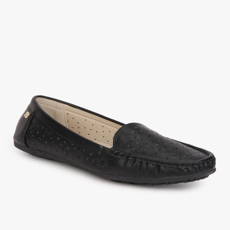 Addons Addons Mia cushioned Loafers Loafers For Women(Black)