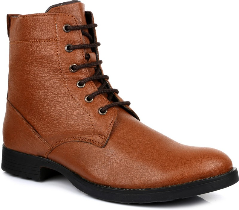 Escaro Leather Boots(Tan)