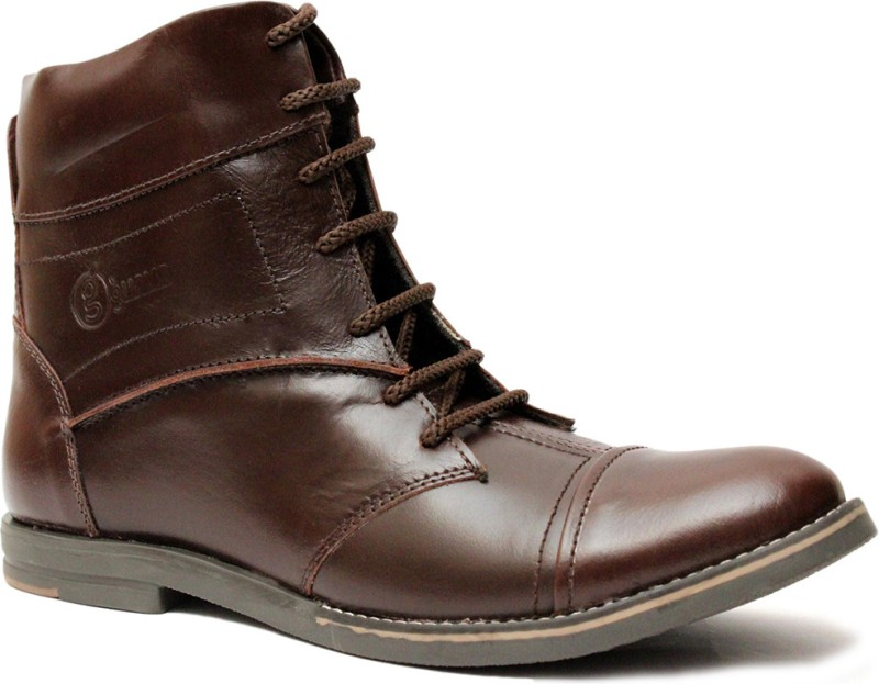 Guava Stylo Brown Boots For Men(Brown)