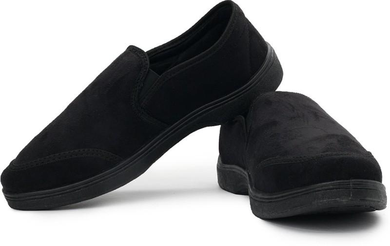 Bata Sam Men Canvas Loafers For Men(Black)