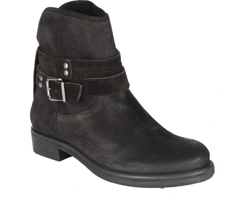 Salt N Pepper 14-648 Dorothea Black Suede Women's Boots Women's Boots For Women(39, Black) image