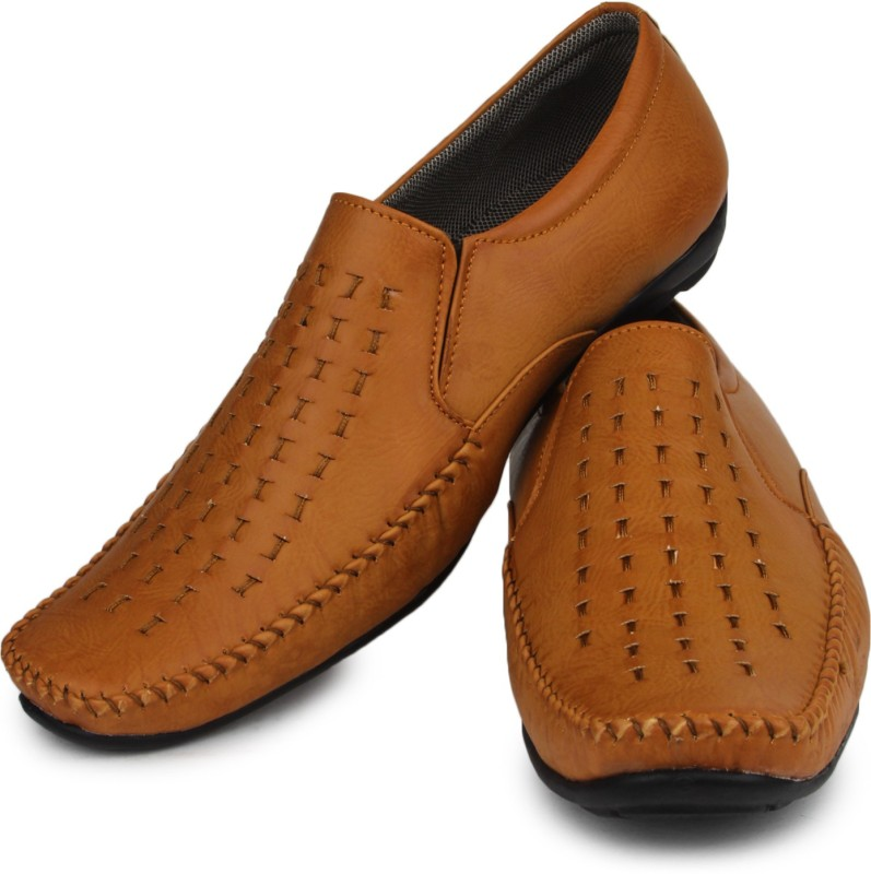 Do Bhai Slip On Shoes For Men(Tan)