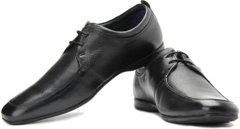 Louis Philippe Lace Up Shoes(Black)