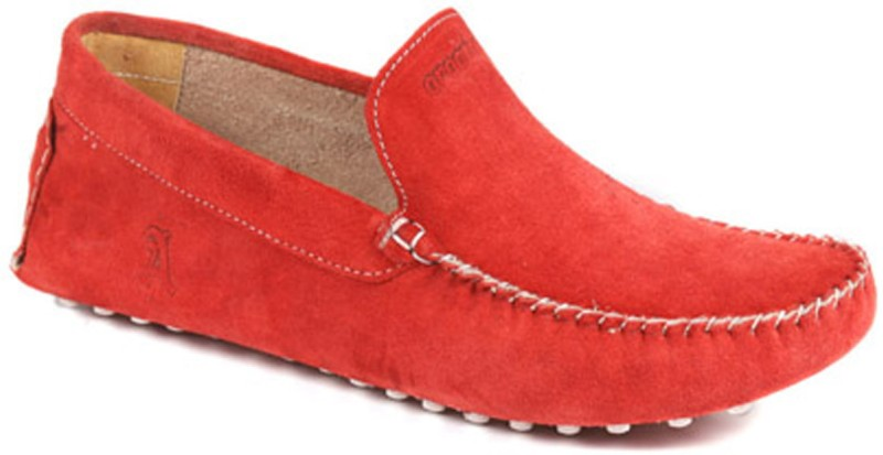 Araanha Driving Loafers For Men(Red)